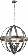 Sterling 3215-009 Modern Contemporary Burnt Oak With Antique And Pewter Pendant Lamp