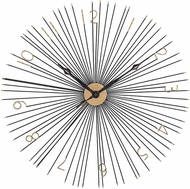 ELK Home 351-10230 Shockfront Modern Gold & Black Shockfront Black and Gold 36-Inch Metal Wall Clock