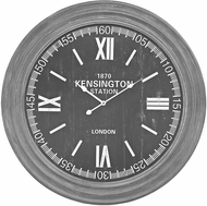 ELK Home 351-10245 London Preda Aged Grey London Wall Clock In Preda Aged Grey
