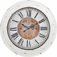 ELK Home 351-10246 Theodore Antique White Theodore Wall Clock In Antique White