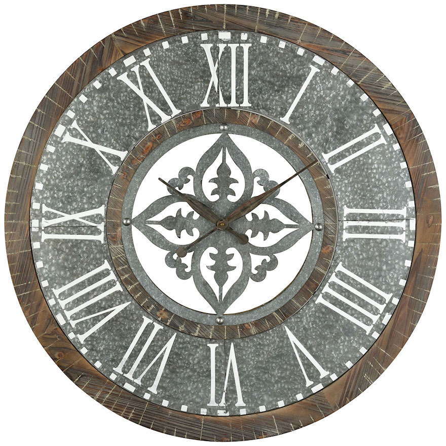 Elk Home 351 10279 Greystone Retro Silver Wall Clock Ekh