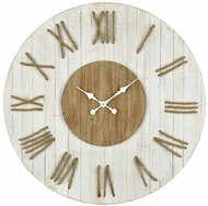 Sterling 351-10289 Pelican Pointe Vintage White, Natural Oak Wall Clock
