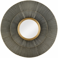 Sterling 351-10295 Vesuvius Zinc, Gold Highlights Wall Mounted Mirror