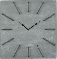 Sterling 351-10532 New Contemporary Grey Iron And Concrete Wall Clock