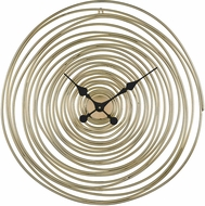 ELK Home 351-10537 Vortissimo Modern Gold Wall Clock