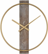 ELK Home 351-10544 Tournai Modern Gold With Grey Wood Wall Clock