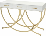 Sterling 351-10555 Slung Contemporary Gold / White Console Table