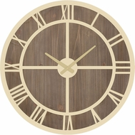 ELK Home 351-10572 Charlevoix Gold / Salvaged Brown Oak Wall Clock