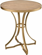 Sterling 351-10573 Scorpius Gold / Salvaged Grey Oak Accent Table