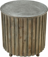 Sterling 351-10593 Boone Salvaged Grey Oak / Galvanized Steel Accent Table