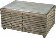 Sterling 351-10594 Boone Salvaged Grey Oak / Galvanized Steel Coffee Table