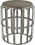 Sterling 351-10596 Gunwharf Salvaged Grey Oak / Galvanized Steel Accent Table