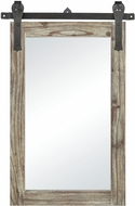 Sterling 351-10600 Los Olivos Salvaged Grey Oak / Bronze Wall Mounted Mirror
