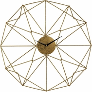 ELK Home 51-029 Contemporary Gold Angular Wirework Wall Clock