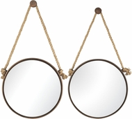 ELK Home 53-8502 Mirrors on Rope Rust Wall Mounted Mirror - Set of 2