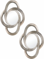 Sterling 6050681 Kennedy Modern Antique Silver Wall Mounted Mirror - Set of 2