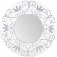 Sterling 7163-077 Surrey Silver & White Wall Mounted Mirror