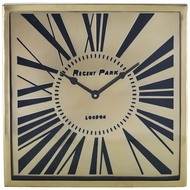 Sterling 8983-039 Regent Park Retro Gold Wall Clock