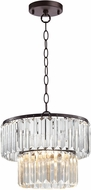 Sterling D3015 Antoinette Bronze & Clear Ceiling Light Pendant