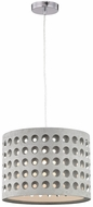 Sterling D3190 Graytr Grey Drum Lighting Pendant