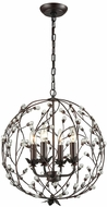 Sterling D3403 Oberon Oil Rubbed Bronze, Clear Pendant Lamp