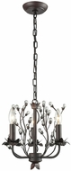 Sterling D3406 Oberon Oil Rubbed Bronze, Clear Mini Chandelier Lamp