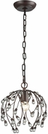Sterling D3407 Oberon Oil Rubbed Bronze, Clear Mini Hanging Lamp