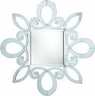 Sterling DM1986 White Wall Contemporary White Wall Mirror