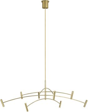 Tech 700ARL60AB-LED930 Aerial Contemporary Aged Brass LED 60 Chandelier Light