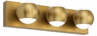 Tech 700BCOKO3R-LED930 Oko Contemporary Aged Brass LED Bath Lighting