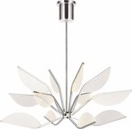 Tech 700BLT38N-LED930 Belterra Modern Polished Nickel LED 38  Chandelier Light