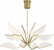 Tech 700BLT38R-LED930 Belterra Contemporary Aged Brass LED 38  Chandelier Lighting