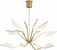 Tech 700BLT48R-LED930 Belterra Modern Aged Brass LED 48  Chandelier Light