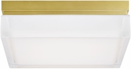Tech 700BXLR Boxie Contemporary Aged Brass LED Indoor / Outdoor Ceiling Lighting
