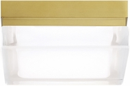 Tech 700BXSR Boxie Modern Aged Brass LED Interior / Exterior Ceiling Light