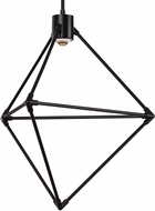 Tech 700CNDR19B-LEDWD Candora Contemporary Matte Black LED 19  Pendant Lighting