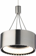 Tech 700COR Corum Contemporary Satin Nickel LED Low Voltage Mini Drum Ceiling Pendant Light