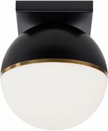 Tech 700FMAKVBR-LED927 Akova Contemporary Matte Black/Aged Brass LED Ceiling Lighting