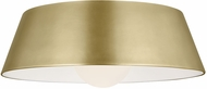 Tech 700FMJNIR-LED930 Joni Contemporary Aged Brass LED Flush Mount Lighting