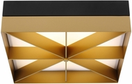Tech 700FMLMOBG-LED930 Loom Contemporary Black/Gold LED Ceiling Light Fixture