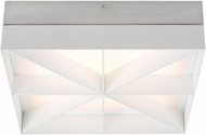 Tech 700FMLMOSW-LED930 Loom Modern Satin Nickel / White LED Ceiling Lighting Fixture