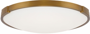 Tech 700FMLNC13A Lance Modern Aged Brass LED 13  Flush Lighting