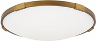 Tech 700FMLNC18A Lance Contemporary Aged Brass LED 18  Flush Mount Light Fixture