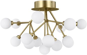 Tech 700FMMRAR-LED927 Mara Modern Aged Brass LED Flush Mount Ceiling Light Fixture