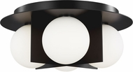 Tech 700FMOBLB Orbel Modern Matte Black LED Overhead Light Fixture