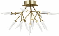 Tech 700FMSPRR-LED927 Spur Modern Aged Brass LED Ceiling Light Fixture