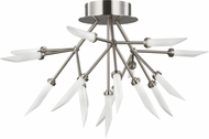 Tech 700FMSPRS-LED927 Spur Contemporary Satin Nickel LED Ceiling Lighting Fixture