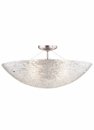 Tech 700FMTRASSC Trace Small 15 Inch Diameter Semi Flush Lighting Fixture - Crystal