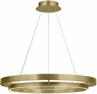 Tech 700GRC36R-LED930 Grace Contemporary Aged Brass LED 36  Hanging Light Fixture