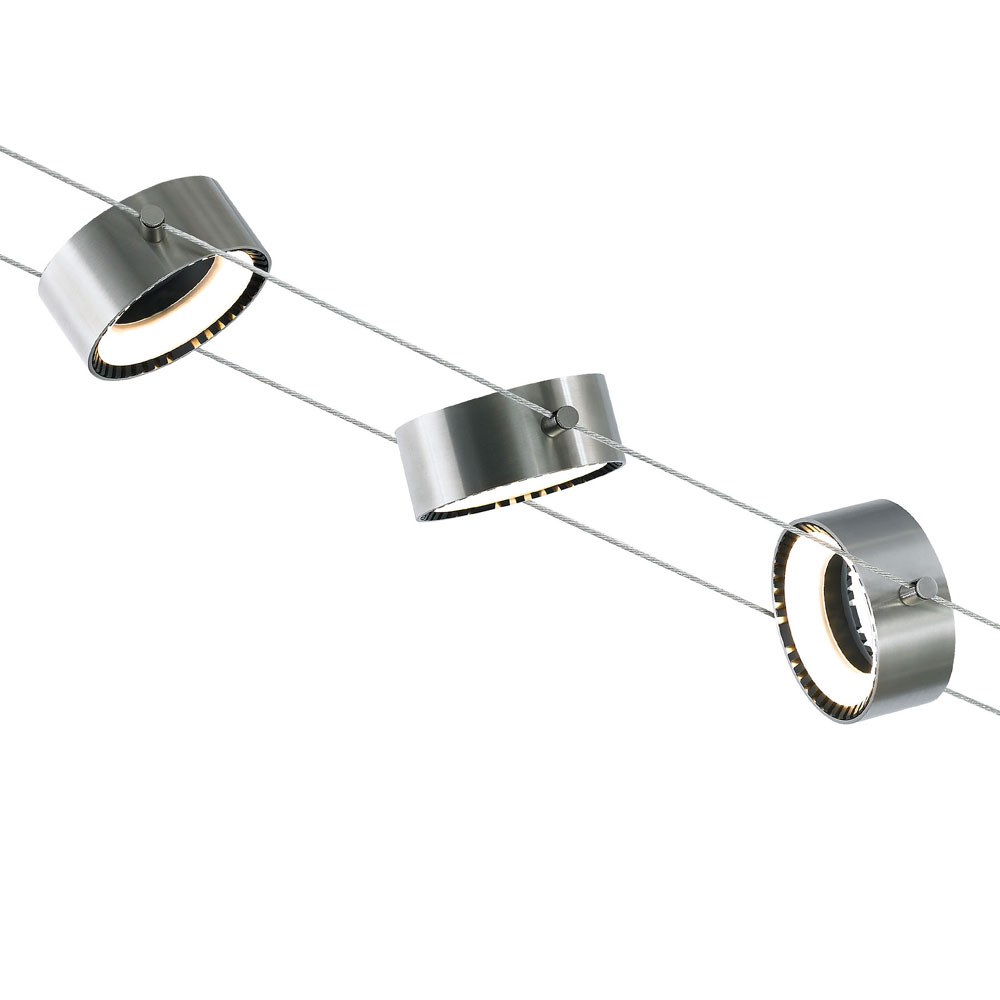 Tech 700klcrm830s Led K Corum Modern Satin Nickel Low Voltage Track Lighting Fixture
